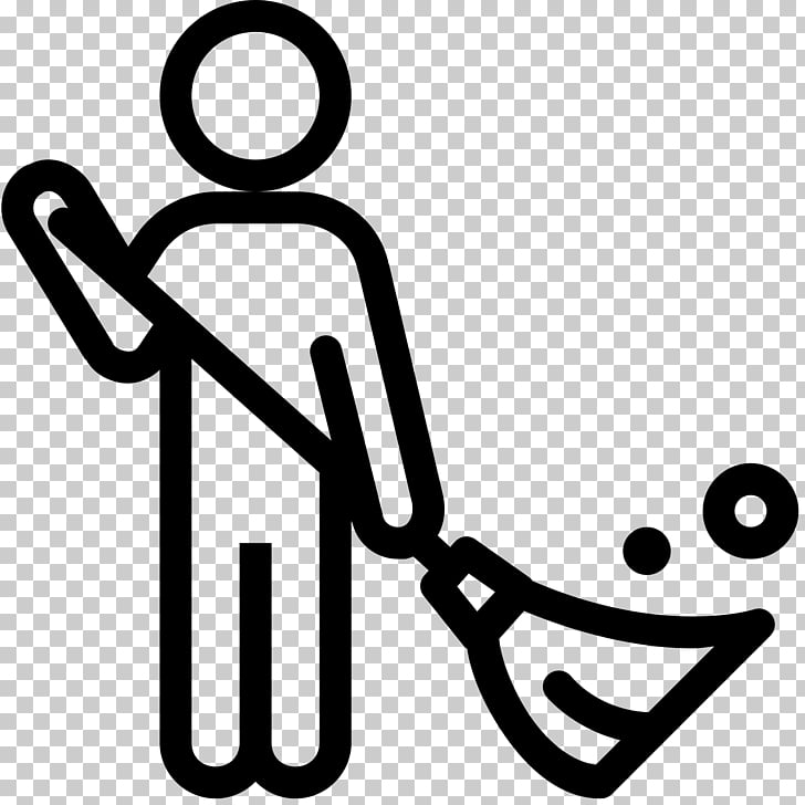 Housekeeping Computer Icons Cleaning Mop Maid service, black.