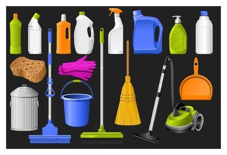 cleaning supplies icon Clipart Picture Free Download.