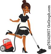 House Maid Clip Art.