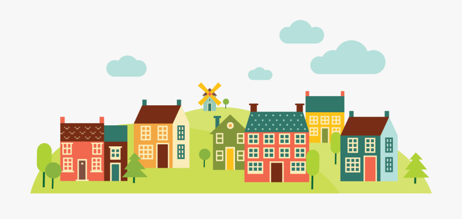 Community Houses Clipart Png , Transparent Cartoon, Free.