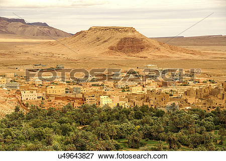 Picture of Mud houses, Casbah Ait Bujan, Todra Gorge, Dades Valley.