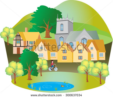 Large House With Pond Stock Photos, Royalty.