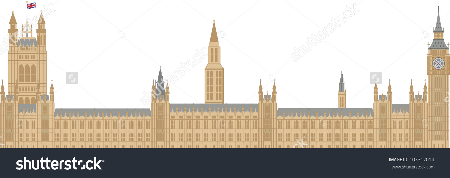 Palace Westminster Houses Parliament Big Ben Stock Vector.