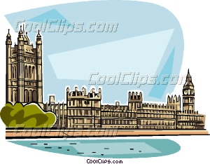 Houses of Parliament Vector Clip art.