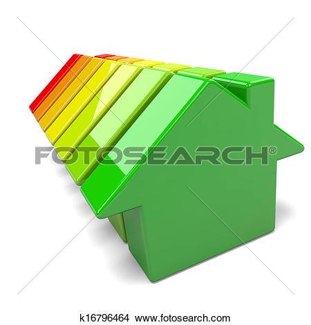 Drawings of Houses Energy Efficiency Levels k16796464.