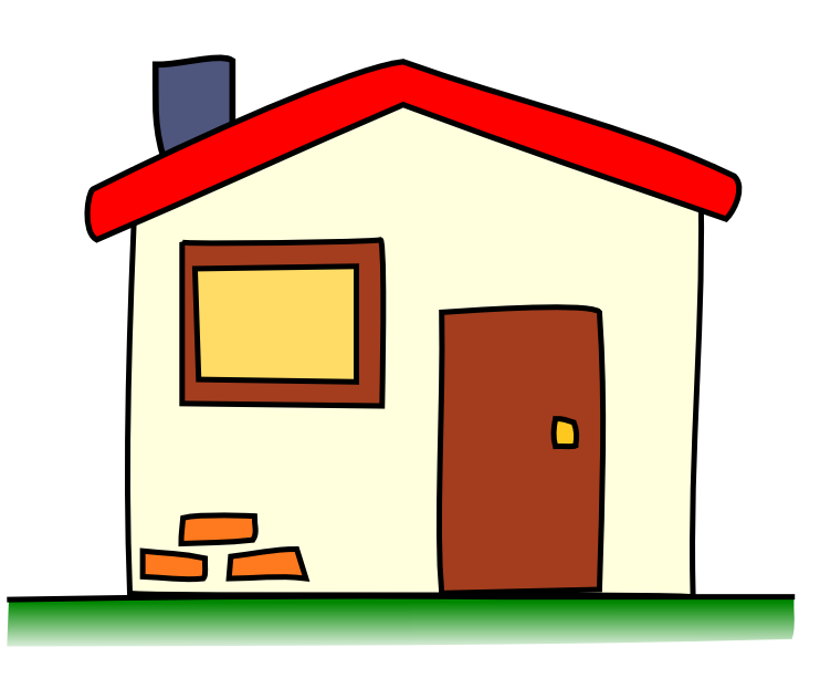 Brick House Clipart.