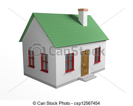 Stock Illustrations of house house, walls, windows, doors, roof.
