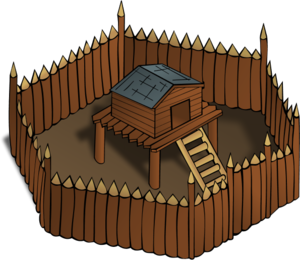 Walls Inside House Clipart.