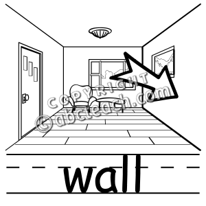 Clipart pictures for walls in house.
