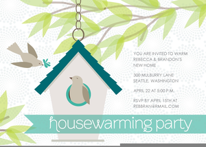 Housewarming Party Invitation Clipart.