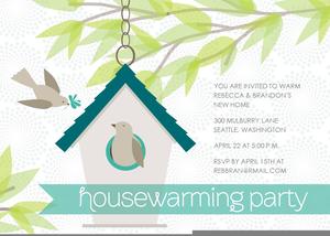 Housewarming Party Invitation Clipart.