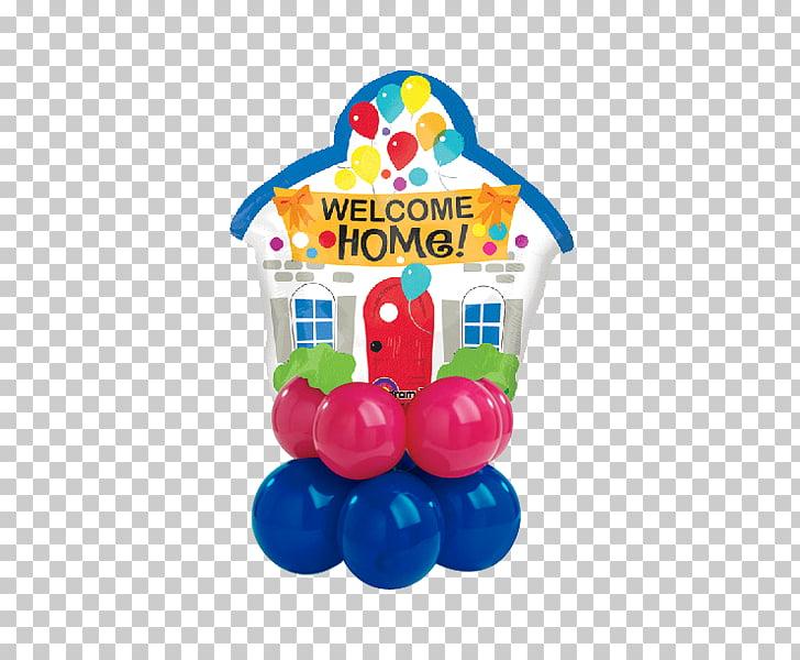 Mylar balloon Housewarming party Flower bouquet, welcome.