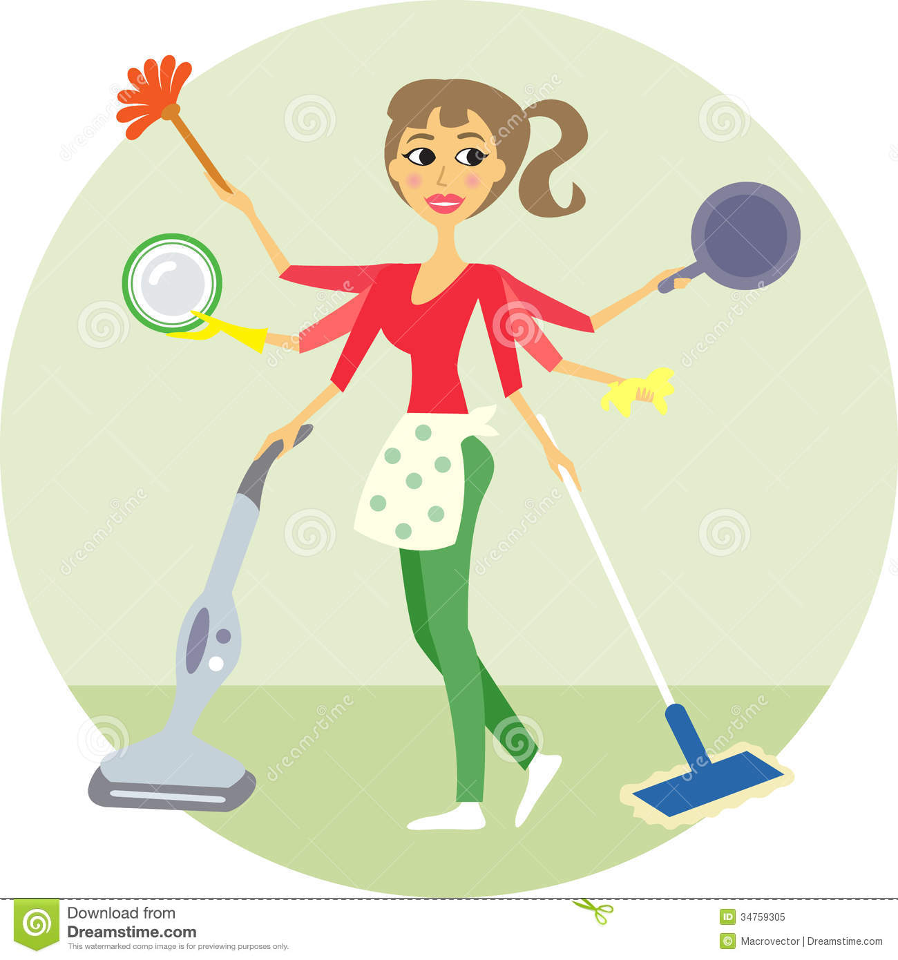 Housewife Clipart.