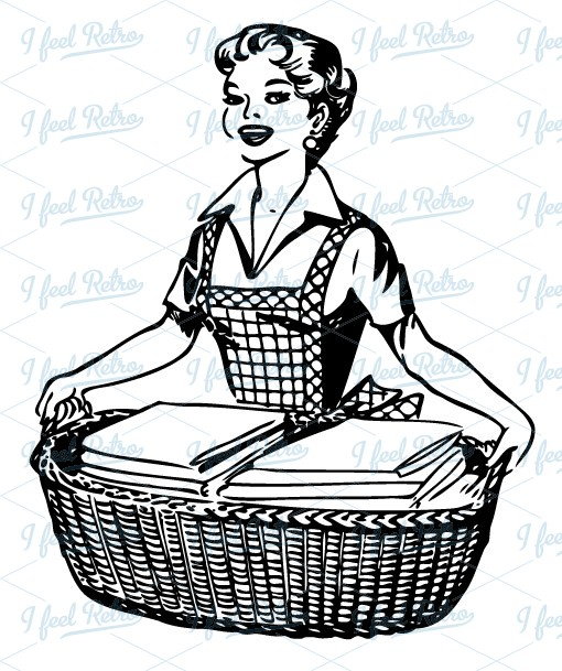 1950s housewife clipart.