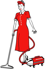 Free clip art housewife.