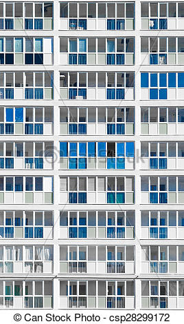 Picture of Modern Desaturated Housing Block in Russia.
