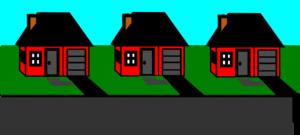 3d 3 Houses Block Clip Art at Clker.com.