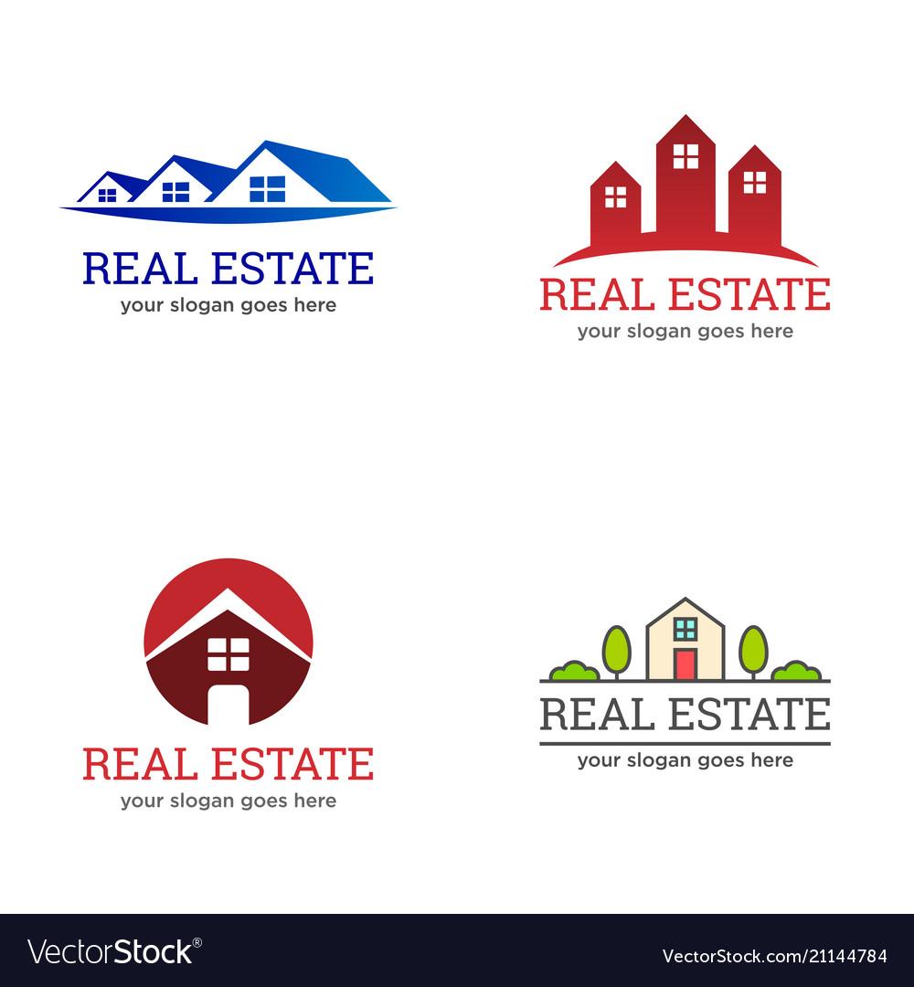 Real estate property agent housing logo.