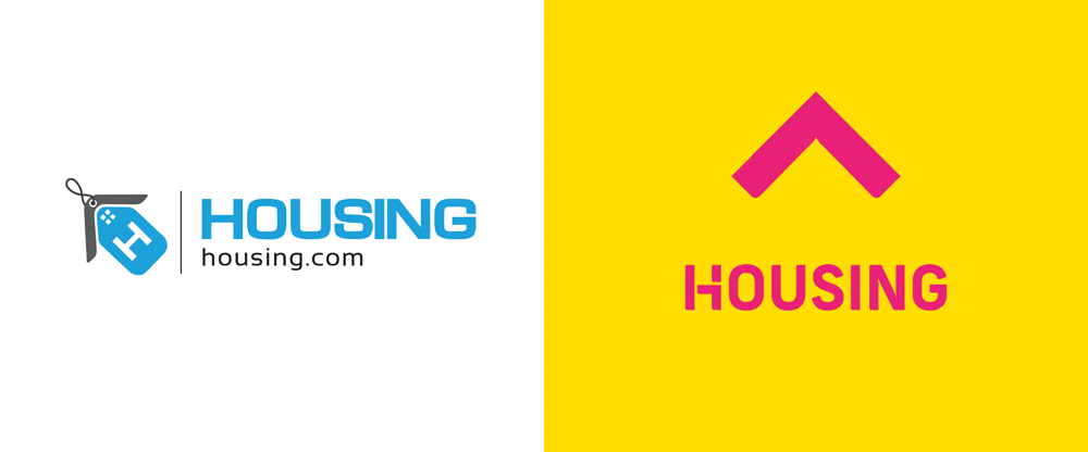 Brand New: New Logo and Identity for Housing by Moving Brands.