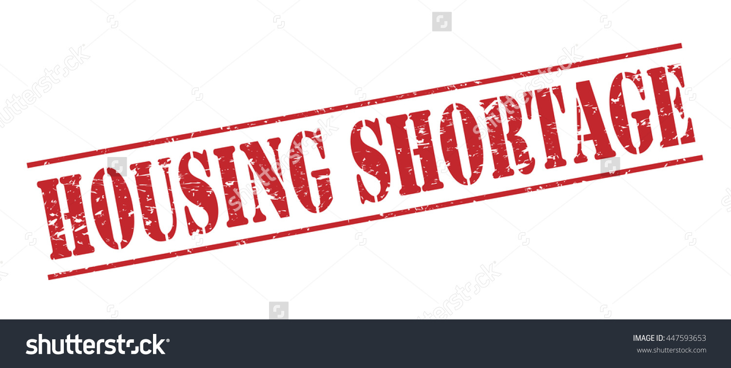 Housing Shortage Vector Stamp On White Background.