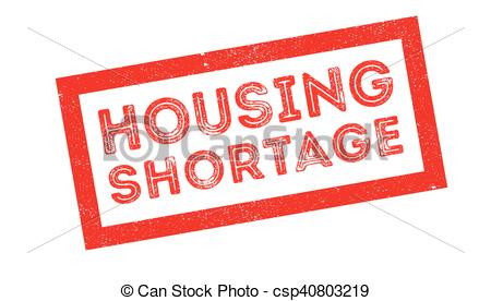 Vector Clip Art of Housing Shortage rubber stamp.