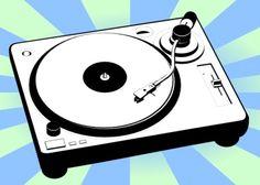 record player illustration.