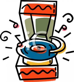 Cartoon of a Retro Record Player.