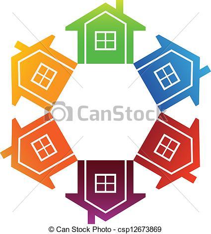 Clip Art Vector of Housing Market.