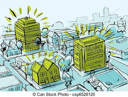 Stock Illustration of Green Housing.