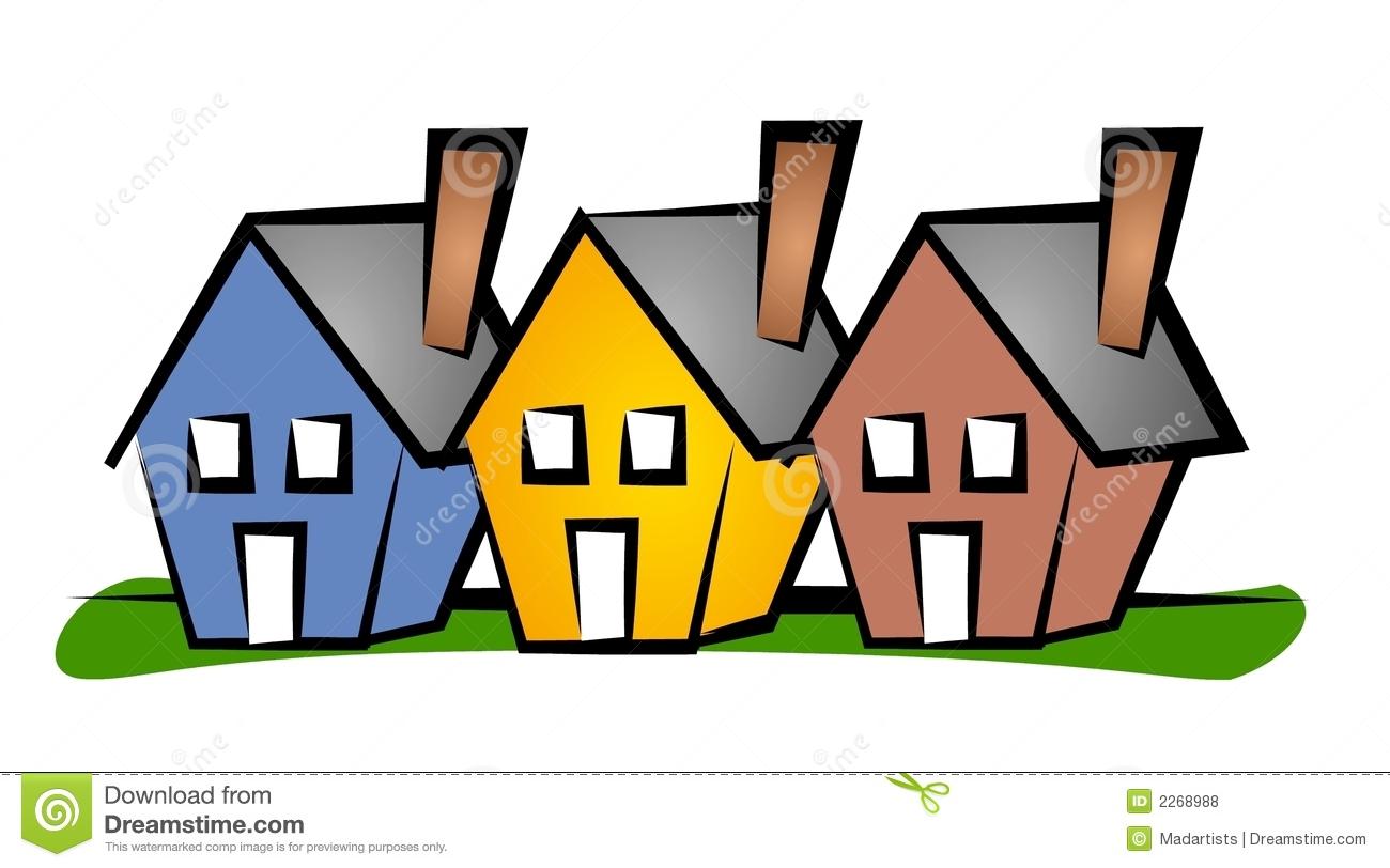 Housing Community Clipart.