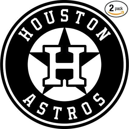 Amazon.com: NBFU DECALS MLB Houston Astros Logo (Black) (Set.