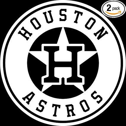 Amazon.com: NBFU DECALS MLB Houston Astros Logo (White) (Set.