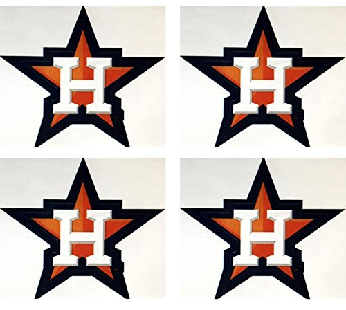 MLB Set of 4 Houston Astros Team Logo Stickers Four Individual Major League  Baseball Official Helmet Emblems Texas.