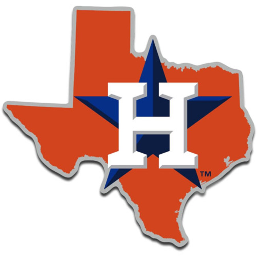 WinCraft Houston Astros Metallic State Shape Acrylic Auto Emblem.