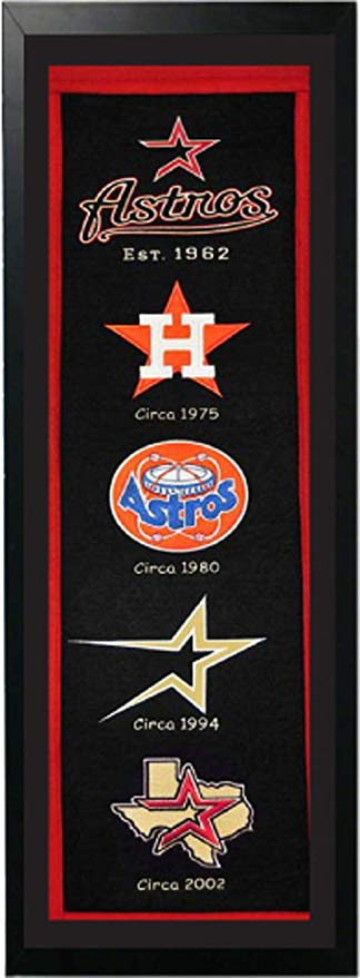 Amazon.com: Encore Houston Astros Logo History Felt Banner.