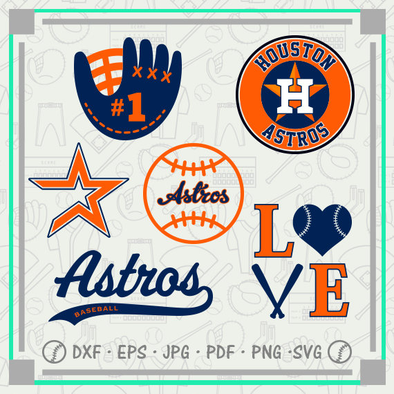 Houston Astros Svg Monogram, Baseball Svg Cutting Files Cliparts.