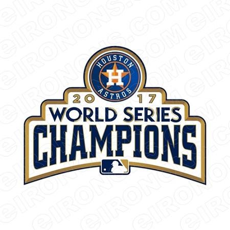 HOUSTON ASTROS 2017 WORLD SERIES CHAMPIONS LOGO SPORTS MLB.