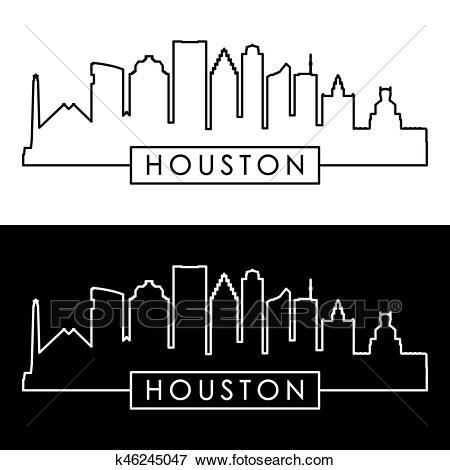 Houston skyline Clip Art.