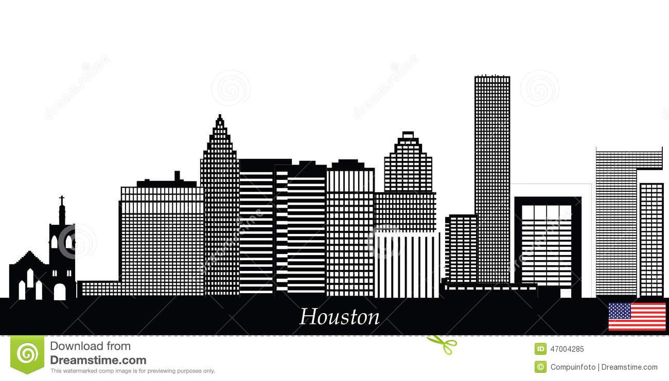 Houston skyline clipart.