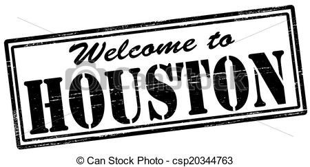 Clipart Vector of Houston stamp.