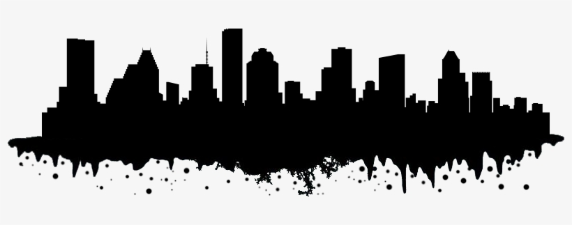 Houston Skyline Png Black And White Download.