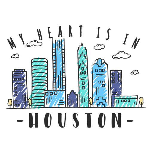 Houston skyline sticker.