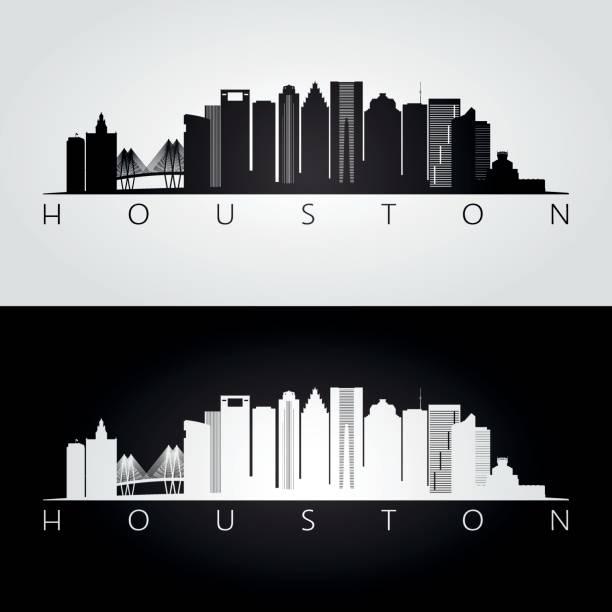 Best Houston Skyline Illustrations, Royalty.