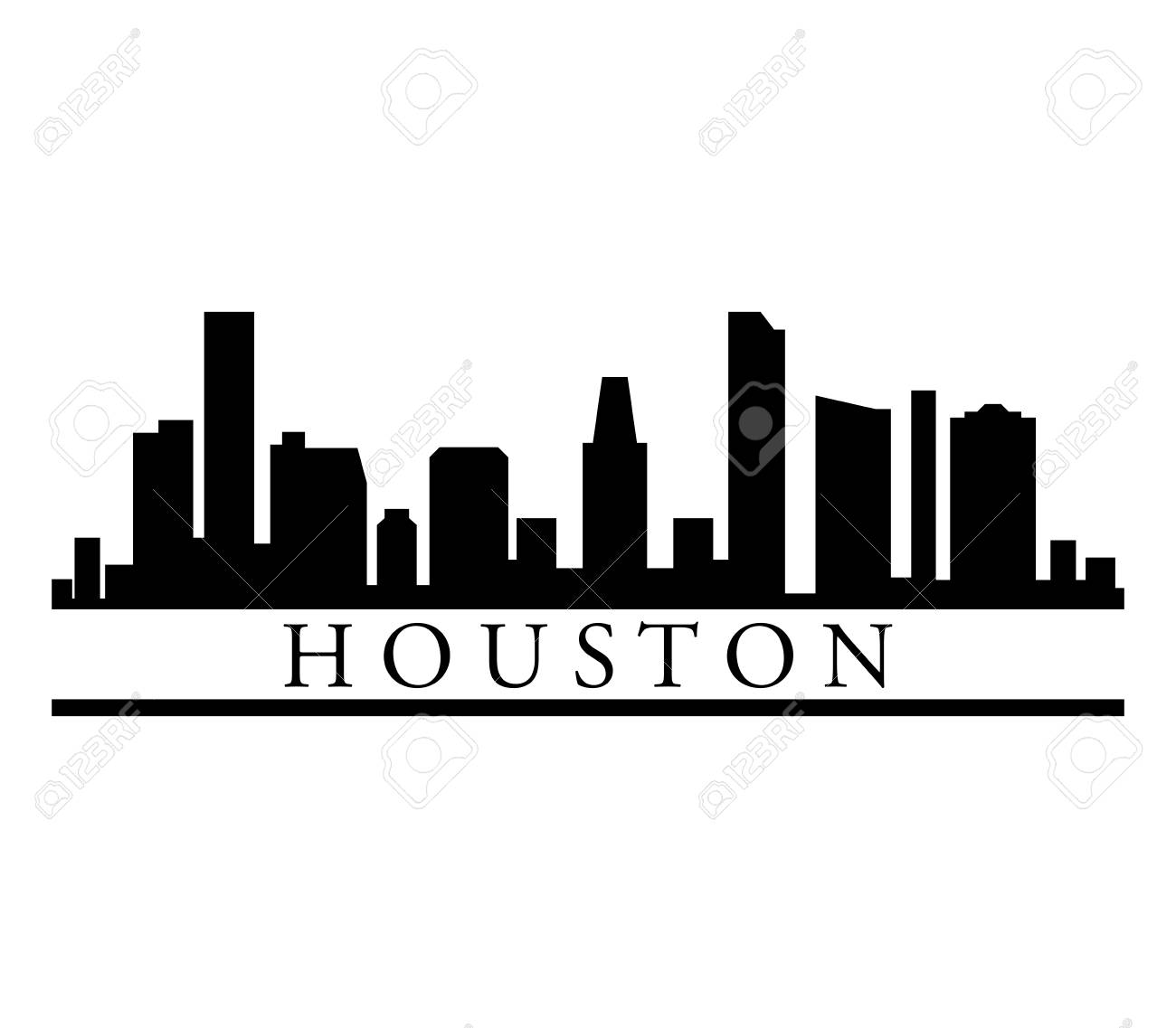 Houston skyline.
