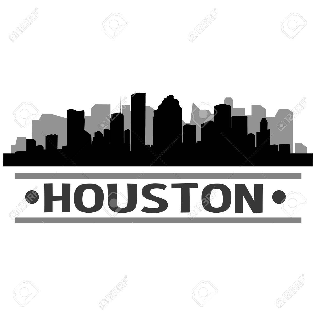 Houston Skyline Vector Art City Design.
