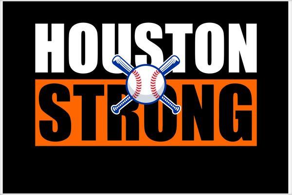 Houston Strong Baseball Bats Logo Poster.