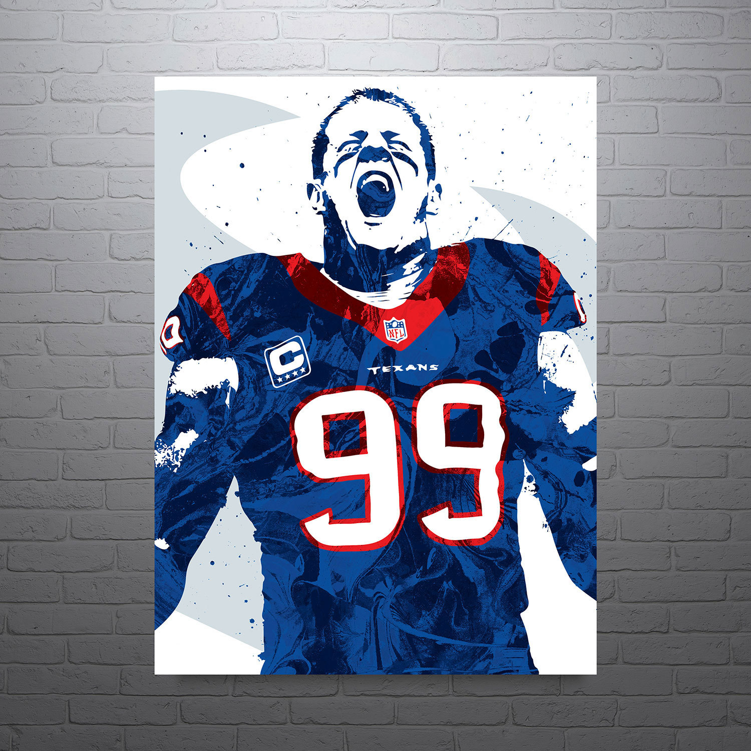 Jj Watt Houston Texans Poster, Houston Texans Free Clipart.