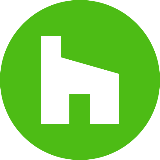 Circle, houzz, round icon icon.