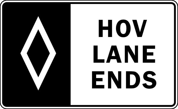 Hov Lane Ends Clip Art at Clker.com.