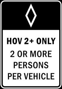 Hov Lane Only Clip Art at Clker.com.
